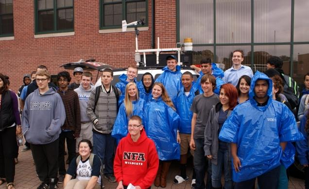 WTNH Channel 8 Weather Bus Visit – NFA Red & White