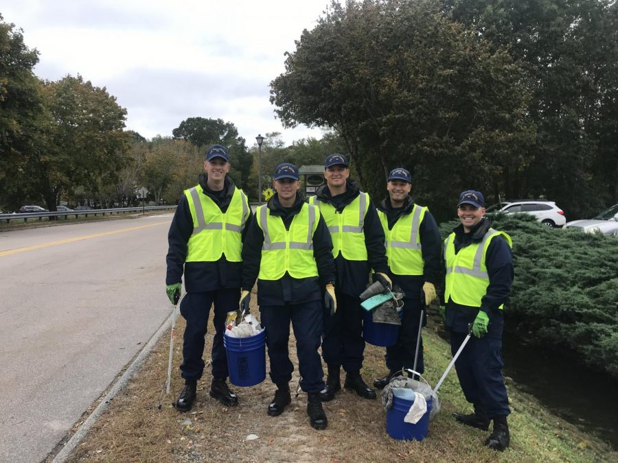 Coast Guard Members Create a Cleaner Community